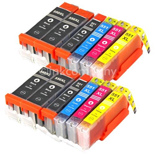 12x-Patronen-fuer-PGI550-CLI551-Farbe-XL-PIXMA-IP7250-MG5450-MG5550-MG6350-MG6450