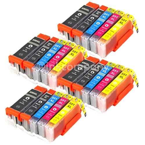 20x-Druckerpatronen-PGI-550-CLI-551-fuer-PIXMA-IP7250-MG5450-MG5550-MG6350-MX725