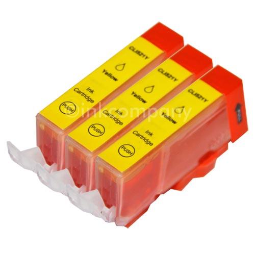 3-CANON-Patronen-Chip-CLI-521-Gelb-IP-4600-MP-620-MP-630-MP-640-NEU