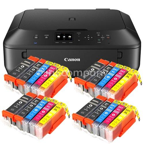 Canon-Pixma-MG-5550-Multifunktionsgeraet-DRUCKER-SCANNER-KOPIERER-20x-Tinte